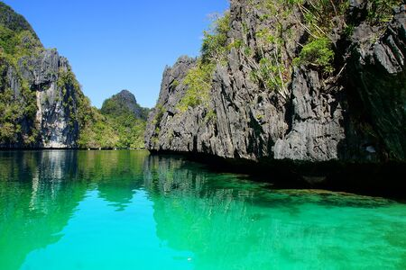 Picturesque sea landscape  El Nido, Palawan island, Philippines