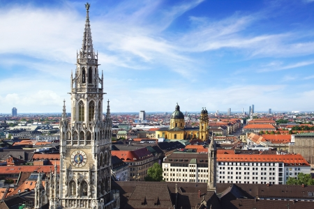 Panoramic view at the Munich, Germany
