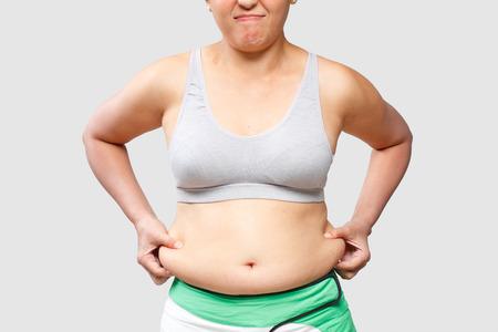 Women body fat belly