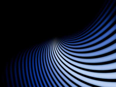 Photo pour Abstract background of parallel blue lines on a black background - image libre de droit