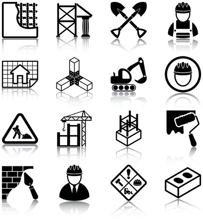 Photo for Construction related icons  - Royalty Free Image