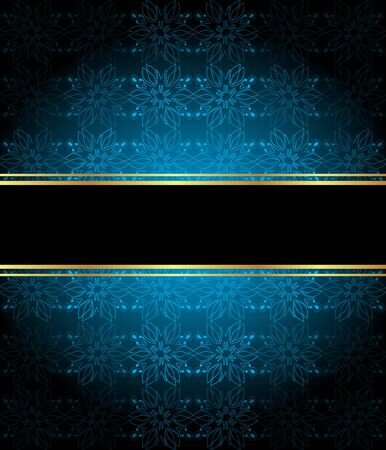 Illustration for Elegant seamless wallpaper with golden fine decoration and place for your text. Layout with space for classic invitation, flayer or cards. - Royalty Free Image