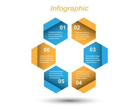 Illustration pour Info-graphic design template. Idea to display ranking and statistics. - image libre de droit
