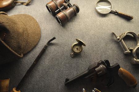 Photo pour The vintage detective collection - image libre de droit
