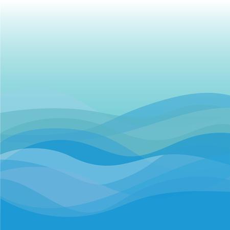 Illustration pour Blue wave vector abstract background flat design - image libre de droit