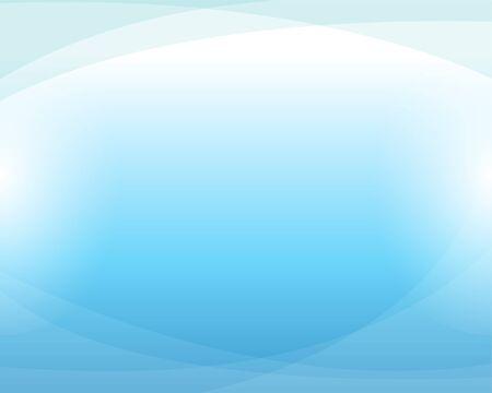 Illustration pour Blue water wave curve abstract background in flat vector illustration. - image libre de droit