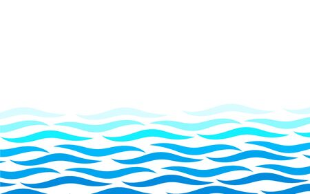 Illustration for Alternating lines water blue ocean wave abstract background vector illustration - Royalty Free Image