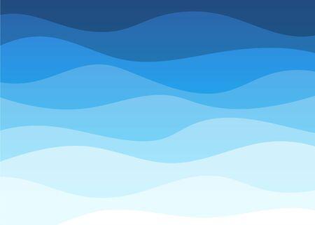 Illustration for Abstract deep blue wave alternating banner vector background illustration - Royalty Free Image