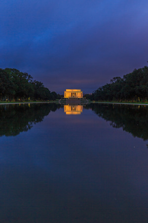 lincoln Memorial across the reflecting pool, in National Mall, Washington DC.