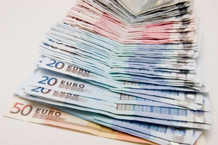 Conceptual background to success and money. Rich colors, Euro currrency Has been used on several high profile web sites.