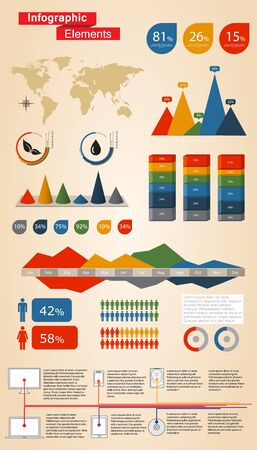 Infographic Elements For Web and Print Usage