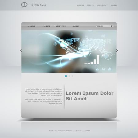 Website template in editable vector format