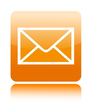 Mail button icon on white