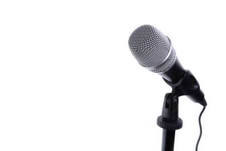 Microphone isolated on white with copy space background