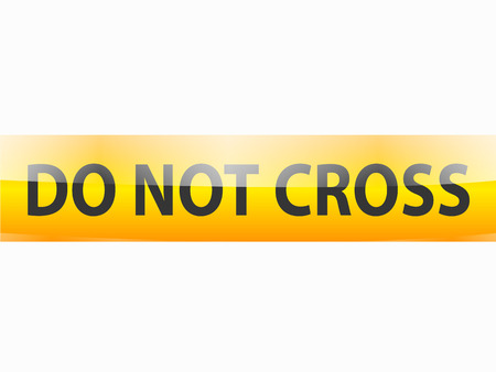 Photo for Do not cross black text on yellow tapes line - Royalty Free Image
