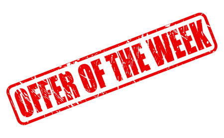 Offer of the week RED STAMP TEXT ON WHITE