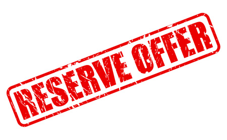 RESERVE OFFER red stamp text on white
