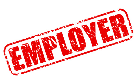 EMPLOYER RED STAMP TEXT ON WHITE