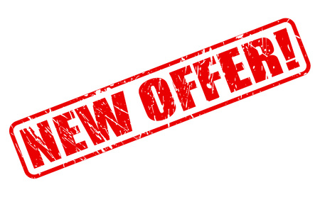 NEW OFFER RED STAMP TEXT ON WHITE