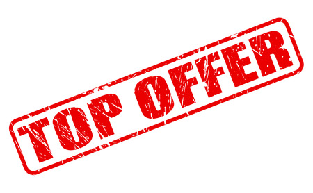 TOP OFFER red stamp text on white