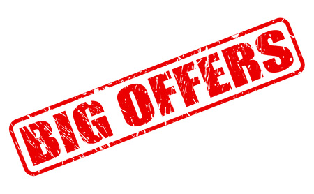 BIG OFFERS red stamp text on white