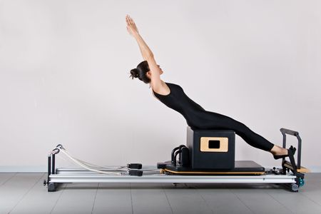 ABS on the short box position. Pilates gymnastics is a Germanic evolution of yoga, used by athletes to improve flexibility and body fitness and by chiropractors for patient recovery.