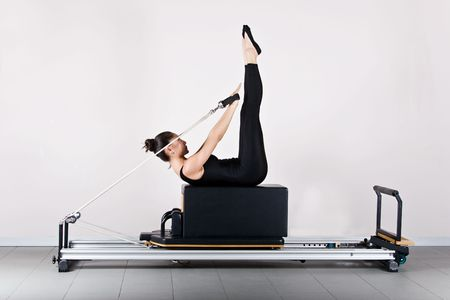 Backstroke position. Pilates gymnastics is a Germanic evolution of yoga, used by athletes to improve flexibility and body fitness and by chiropractors for patient recovery.