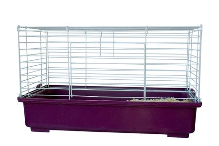 Photo for a cage for small pets isolated on white - Royalty Free Image