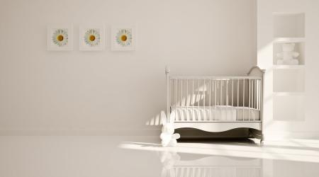 Interior of nursery  B W