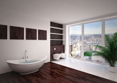Modern interior  bathroom in house, apartment