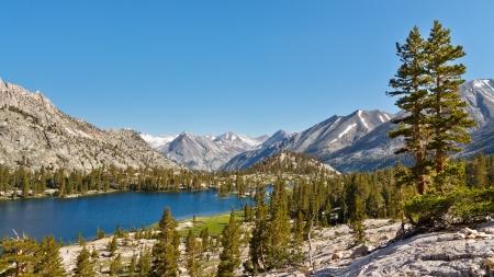 Pristine Mountain Lake in the Sierra Nevada, California, USA