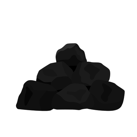 Pile of charcoal. vector illustration