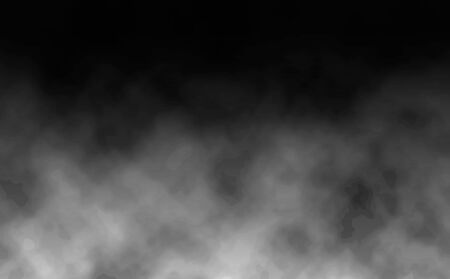 Illustration pour Graphic background of realistic smoke and dust on a black background. Vector illustration - image libre de droit
