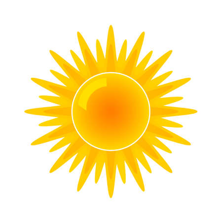 Illustration for Sun icon for weather forecast. flat vector illustration isolated - Royalty Free Image