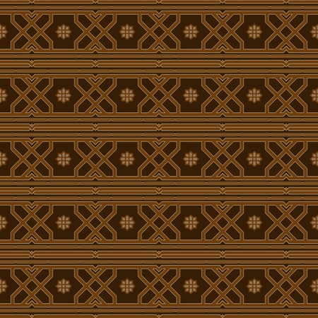 Luxurious seamless pattern in oriental style. Beautiful elegant print. Shades of brown color.