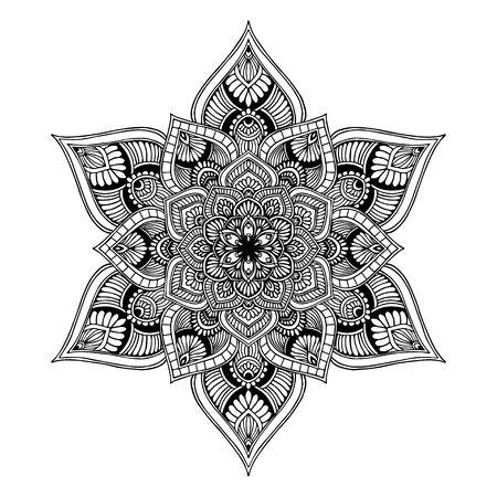 Illustration pour Mandalas Round for coloring  book. Decorative round ornaments. Unusual flower shape. Oriental vector, Anti-stress therapy patterns. Weave design elements. Yoga logos Vector. - image libre de droit