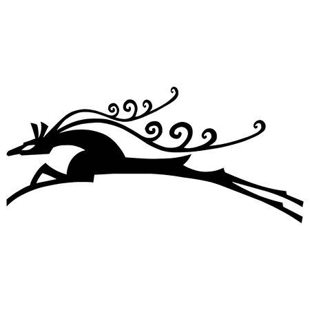 Deer vector illustration, a christmas elements for design.