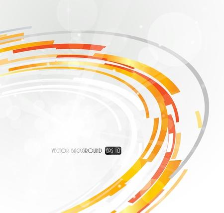 Foto de Abstract futuristic orange 3D circle. - Imagen libre de derechos