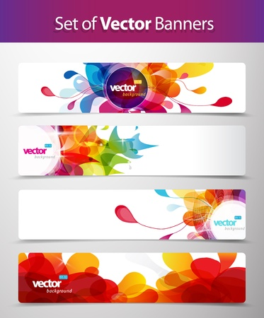 Foto de Set of abstract colorful web headers. - Imagen libre de derechos