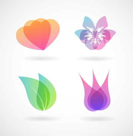 Set of colorful vector elements.