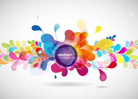 Illustration for abstract colored background with circles. - Royalty Free Image