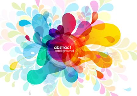 Illustration pour Abstract colored background with shapes. - image libre de droit