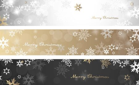 Colorful Christmas Background Design.Set Of Three Colorful Christmas Background Banners With