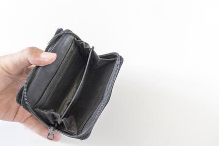 Photo pour Empty wallet and man's hand - image libre de droit