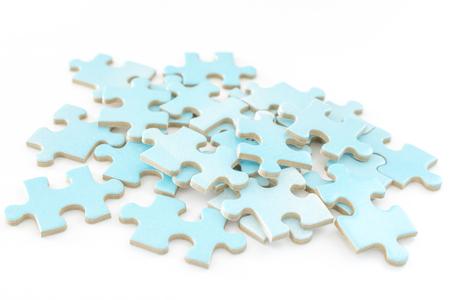 Photo pour Jigsaw puzzle pieces - image libre de droit