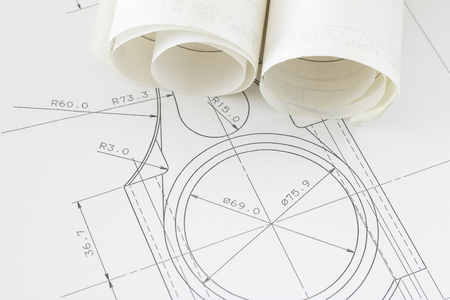 Photo for Design image of mechanical drawing - Royalty Free Image