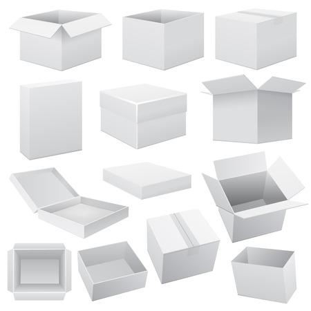 Box set. Vector Web on white illustration