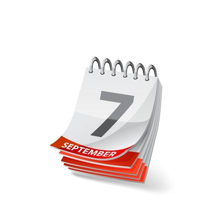 Vector calendar illustration on white background 10 eps.