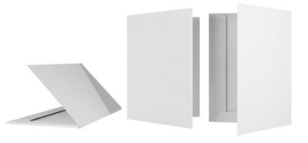 Template briefcase bid two cardboard bending 3d
