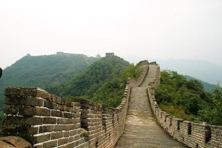 Chinese great wall in Mutianyu, China